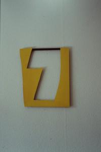 """WVZ 29-4-93, Acryl auf Wellpappe, """"nach oben offen"""", 1993, 41 x 49"""
