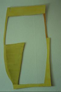 """WVZ 34-4-93, Acryl auf Wellpappe, """"Winkelrahmen"""", 1993, 83 x 109"""