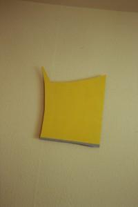 """WVZ 38-4-93, Acryl auf Wellpappe, """"Haus ohne Garten"""", 1993, 33,5 x 42"""