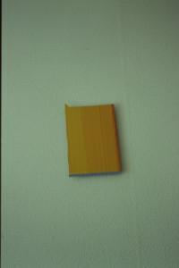 "WVZ 44-4-93, Acryl auf Wellpappe, ""Haus"", 1993, 21,5 x 32"
