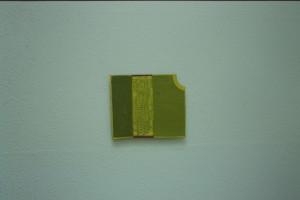 """WVZ 1-5-93, Acryl auf Wellpappe, """"Haus mit Garten"""", 1993, 24 x 28,5"""