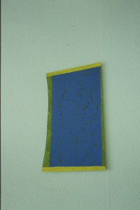 "WVZ 2-5-93, Acryl auf Wellpappe, ""Haus"", 1993, 33 x 58"