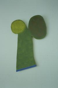 """WVZ 3-5-93, Acryl auf Wellpappe, """"Mond im Baum"""", 1993, 47 x 66"""