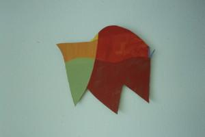 "WVZ 4-5-93, Acryl auf Wellpappe, ""Meerestier"", 1993, 49 x 48"