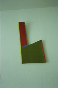 "WVZ 22-5-93, Acryl auf Wellpappe, ""playing golf"", 1993, 31 x 55"