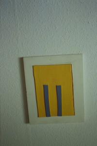 WVZ 46-5-93, Acryl auf Wellpappe auf Holz, - , 1993, 28 x 35