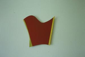 """WVZ 34-5-93, Acryl auf Wellpappe, """"Windsegel"""", 1993, 36 x 41,5"""