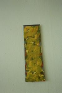 """WVZ 1-6-93, Acryl auf Wellpappe, """"kleine Farbstele"""", 1993, 15,5 x 48"""
