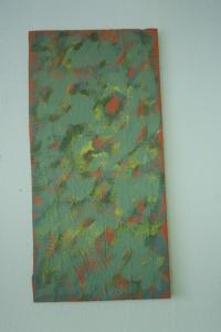 "WVZ 2-6-93, Acryl auf Wellpappe, ""Sommer"", 1993, 30,5 x 63"