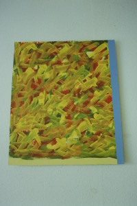 """WVZ 4-6-93, Acryl auf Wellpappe, """"Freude"""", 1993, 63 x 65,5"""