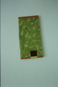 """WVZ 6-6-93, Acryl auf Wellpappe, """"Störbild"""", 1993, 19,5 x 38,5"""