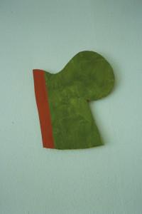"WVZ 8-6-93, Acryl auf Wellpappe, ""halb vegetativ"", 1993, 30,5 x 37"