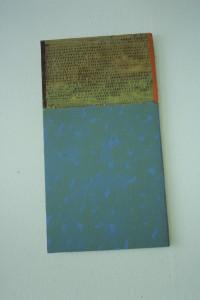 "WVZ 10-6-93, Acryl auf Wellpappe, ""Melancholie"", 1993, 30 x 55"