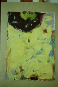 "WVZ 11-6-93, Acryl auf Wellpappe, ""Sonne - Mond"", 1993, 42 x 55"
