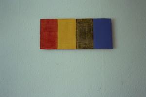 "WVZ 15-6-93, Acryl auf Wellpappe, ""Farbtafel"", 1993, 44 x 19,5"