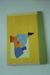 """WVZ 16-6-93, Acryl auf Wellpappe, """"Gespräch mit der Wüste, 1993, 62 x 45,5"""