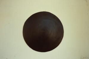 """WVZ 10-5-86, Acryl auf Spanplatte, """"Sonnenuhr"""", 1986, -"""