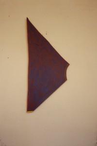 """WVZ 20-3-86, Acryl auf Spanplatte, """"Piranha"""", 1986, 24 x 58"""