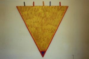 """WVZ 6-2-86, Acryl auf Spanplatte, """"Fallschirm"""", 1986, 99 x 110"""