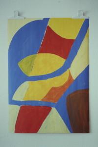 - Malerei, Acryl auf Papier, - , 1993, 61 x 83