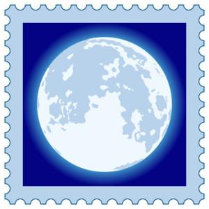 Full Moon on stamp