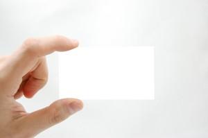 weiße Karte