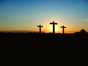 3 Kreuze, Sonnenuntergang