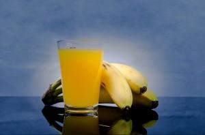 Orangensaft, Bananen