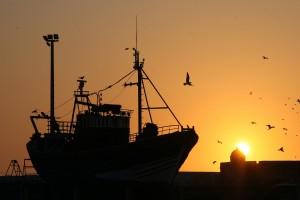 Schiff, Sonnenuntergang