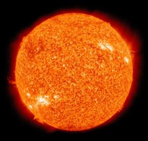 glühende Sonne