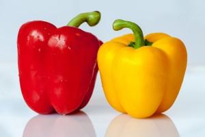 gelber, roter Paprika