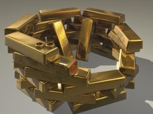 Goldbarren, Ringe