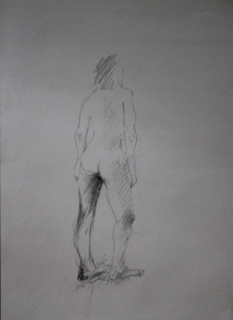 Aktzeichnung, Bleistift auf Papier, 80-er Jahre, 42 x 57