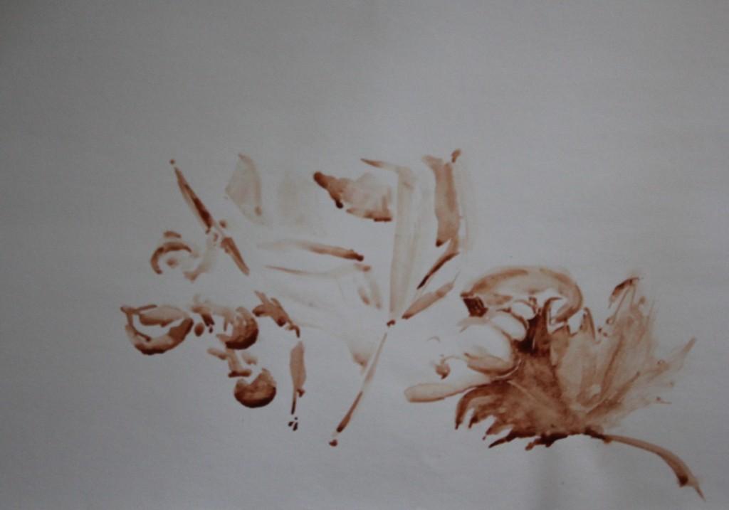 Blätter, Sepia oder Bister (?), 80-er Jahre, 59,5 x 42