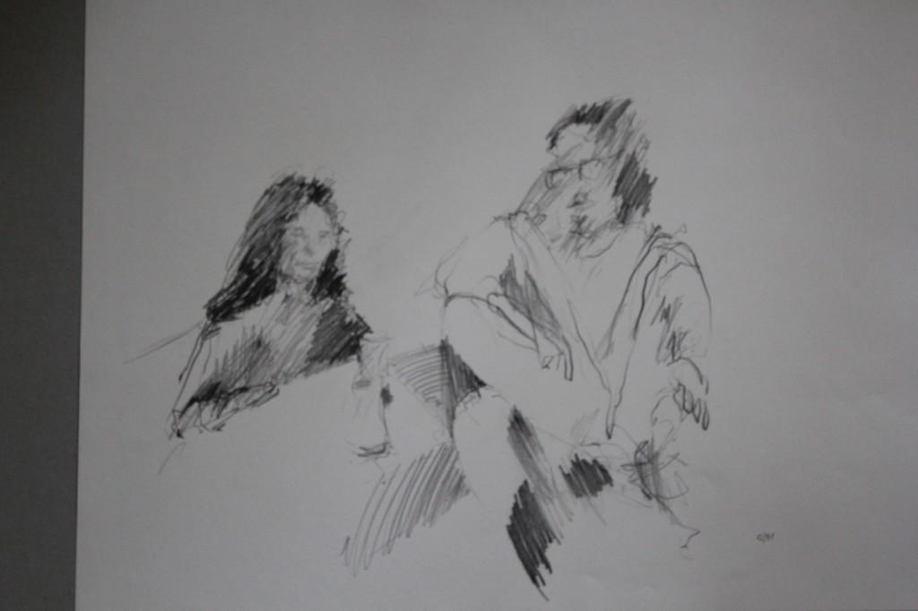 Szene, Bleistift auf Papier, 1981, 57 x 42