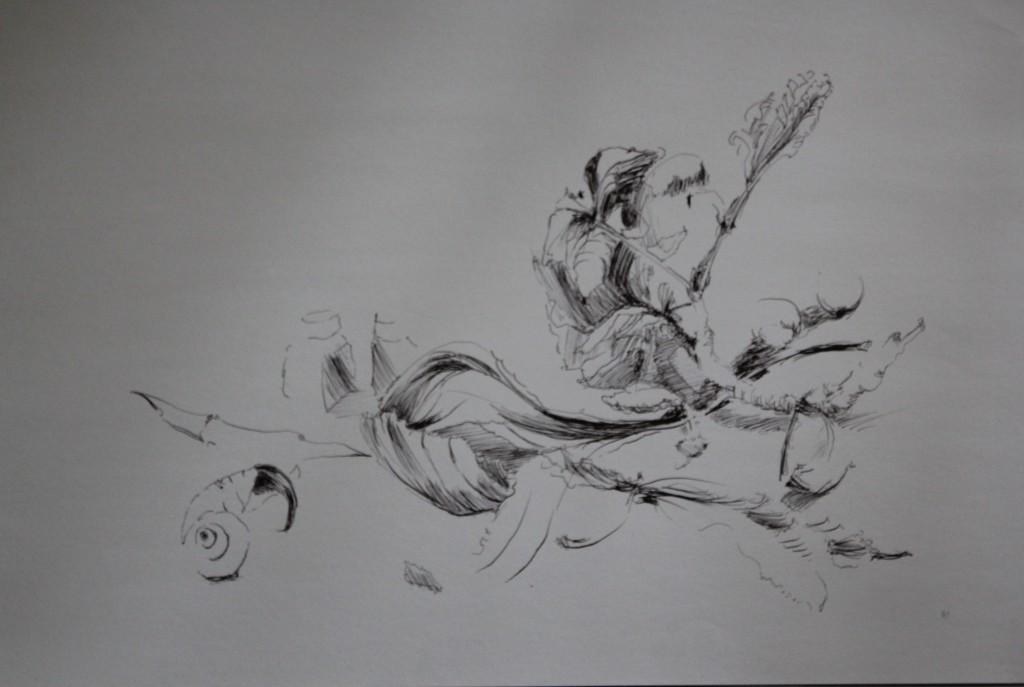 Stillleben, Tinte auf Papier, 80-er Jahre, 59 x 42