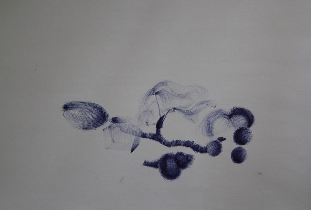 Stillleben, Kuli auf Papier, 80-er Jahre, 59 x 42