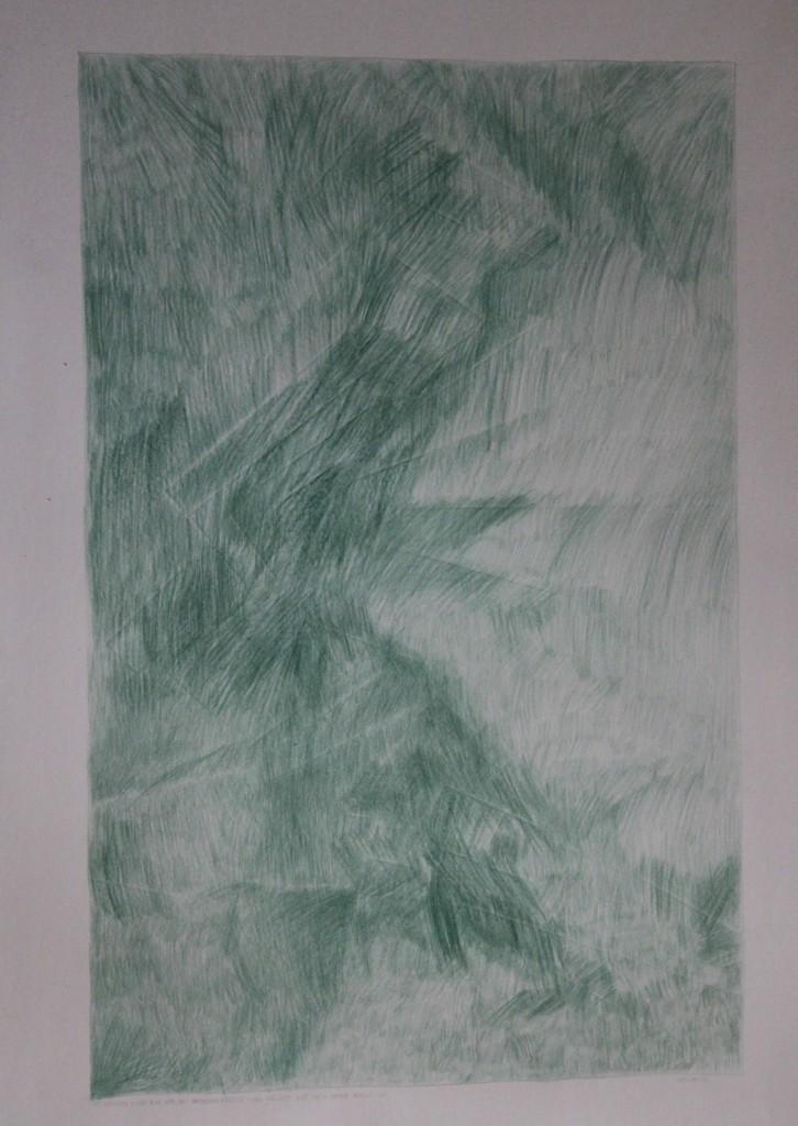 abstrakte Zeichnung, Farbstift auf Papier, 80-er Jahre, 42 x 59
