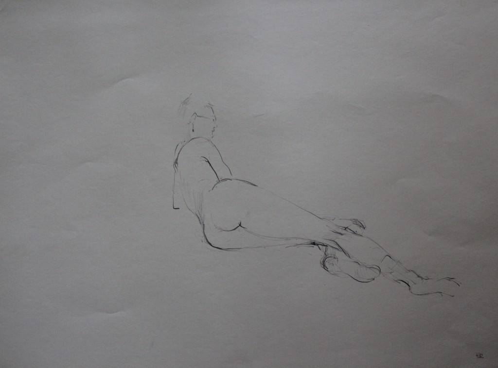 Akt, Bleistift auf Papier, 1982, 56 x 42