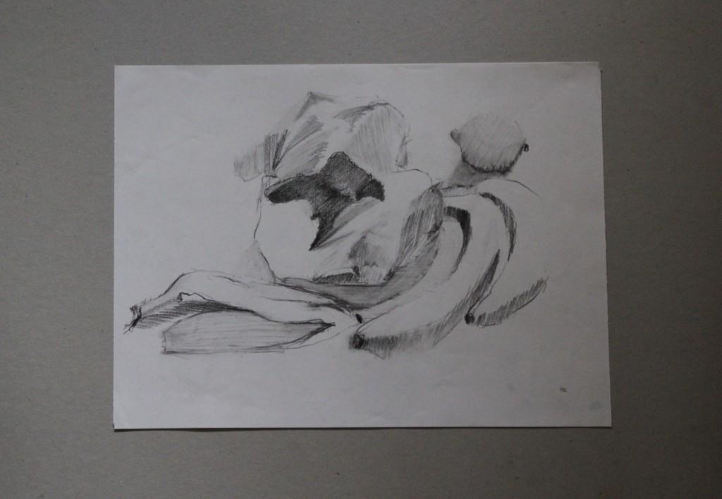 Stillleben, Bleistift auf Papier, 1982, 40 x 29,5