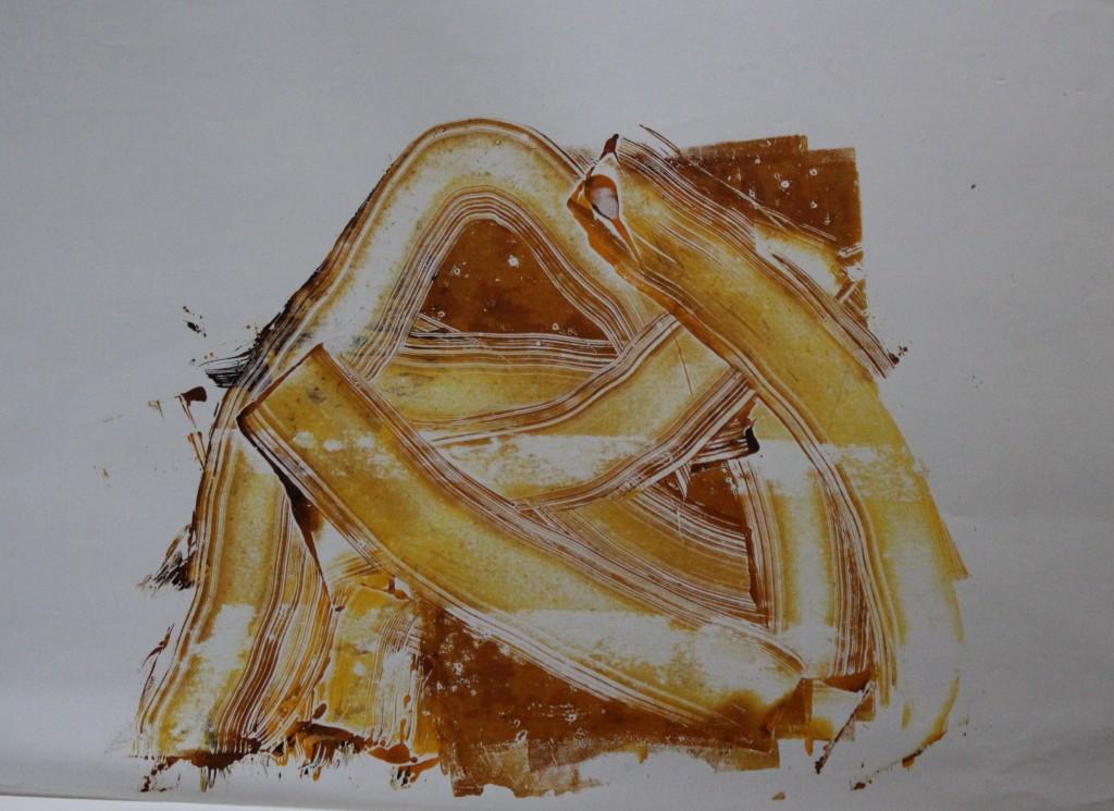 abstrakt, Monotypie, 1983, 52,5 x 38,5