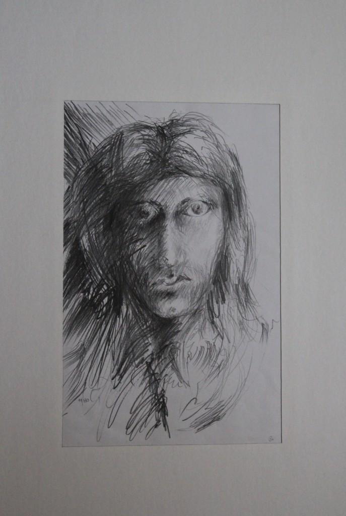 Selbst, Bleistift auf Papier, 1980, 22 x 34