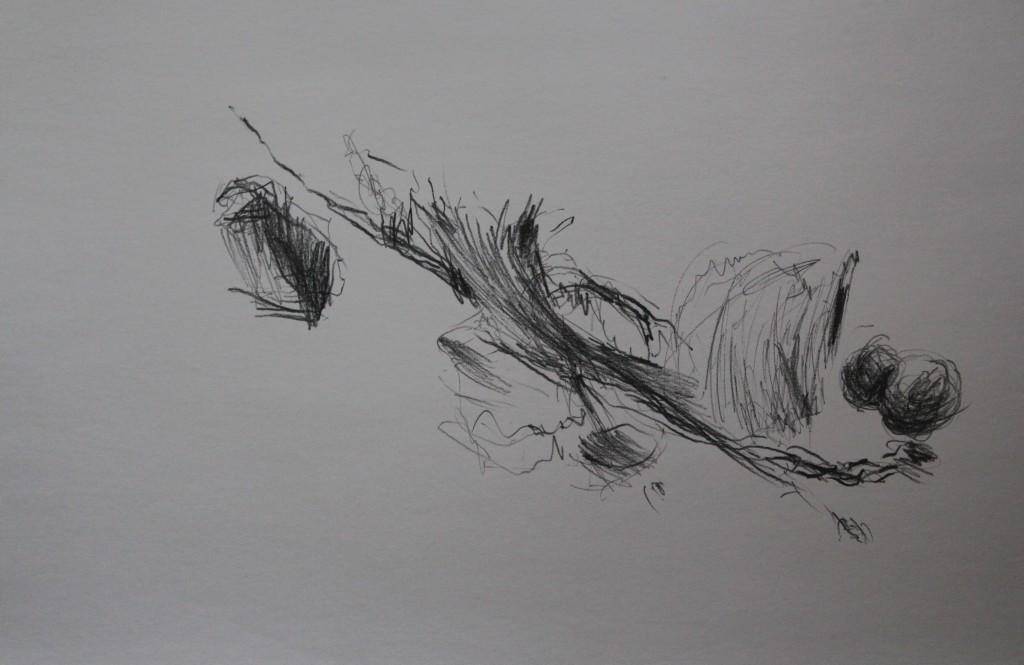 Stillleben, Bleistift auf Papier, 80-er Jahre, 59,5 x 42