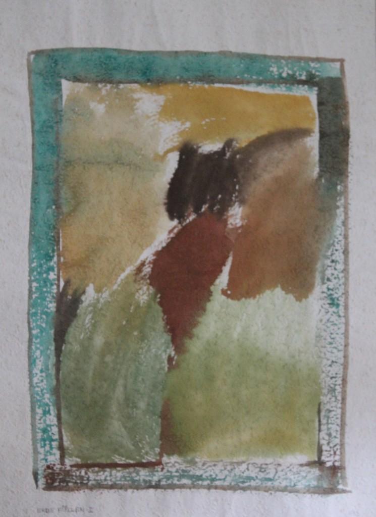 Erde Füllen I, Tempera auf Rauhfasertapete, 1982, 40,5 x 53