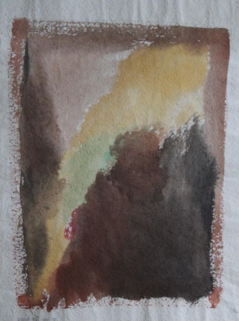 Erde Füllen V, Tempera auf Rauhfasertapete, 1982, 44 x 53