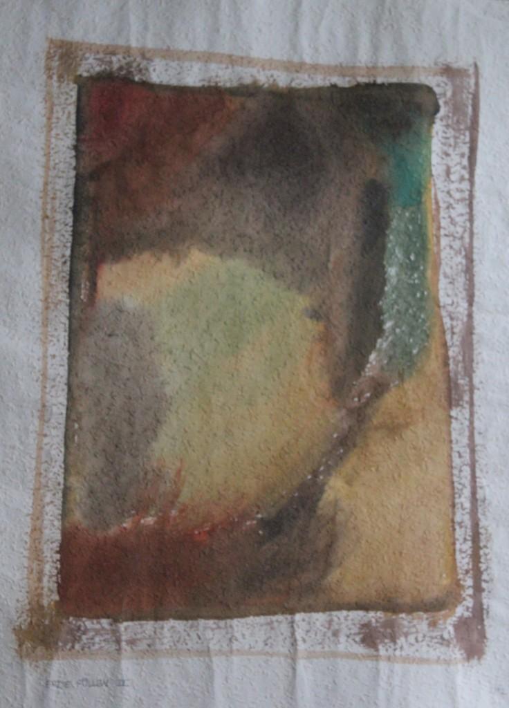Erde Füllen iV, Tempera auf Rauhfasertapete, 1982, 42,5 x 53