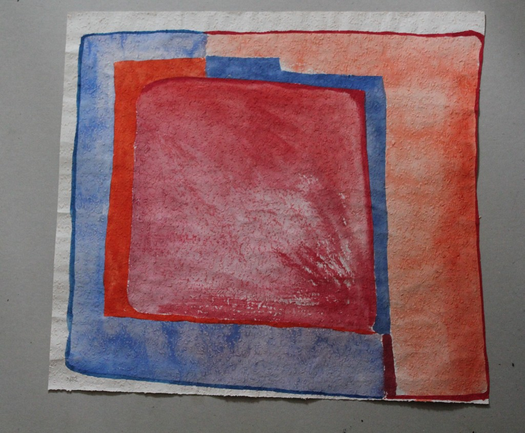 Bild, Tempera auf Rauhfasertapete, 1982, 51 x 47
