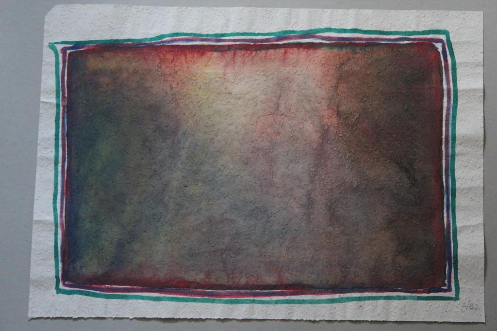 Bild Screen (Grenzen), Tempera auf Rauhfasertapete, 1982, 53 x 37