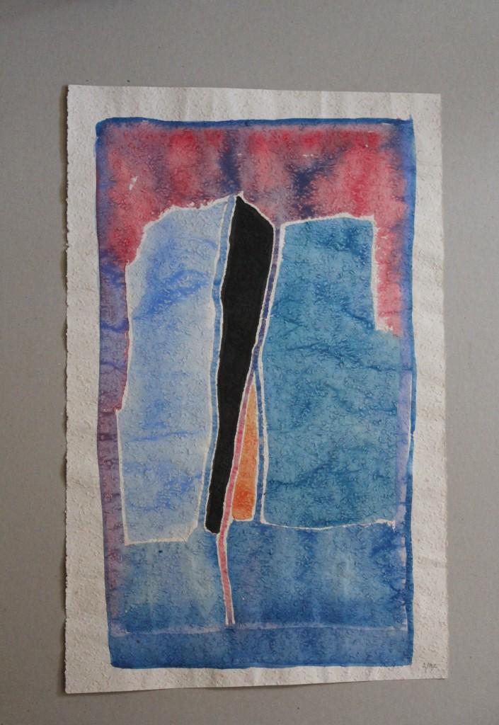 Bild Spaltung, Tempera auf Rauhfasertapete, 1982, 34,5 x 53