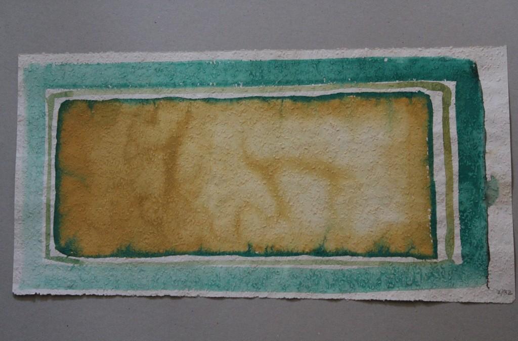 Bild Screen (Grenzen), Tempera auf Rauhfasertapete, 1982, 53 x 34,5